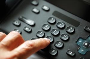 6.担当している部署直属電話番号にかける